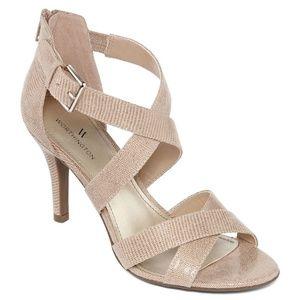Worthington Womens Cari Heeled Sandals